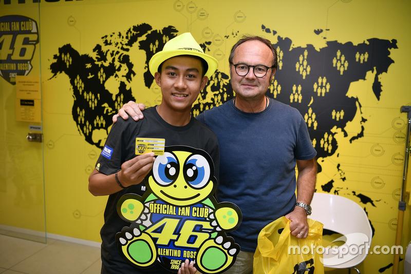M Faerozi dan Presiden Official Fan Club Valentino Rossi, Flavio Fratesi