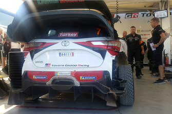 La voiture de Jari-Matti Latvala, Miikka Anttila, Toyota Gazoo Racing WRT Toyota Yaris WRC