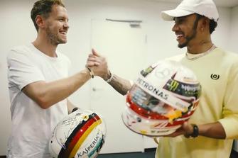 Sebastian Vettel, Ferrari y Lewis Hamilton, Mercedes F1 AMG