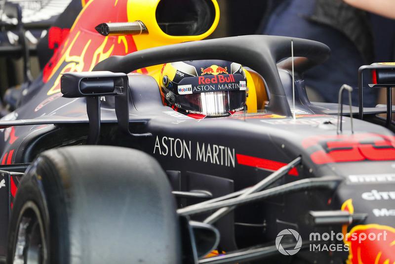 Max Verstappen, Red Bull Racing, nell'abitacolo della sua monoposto
