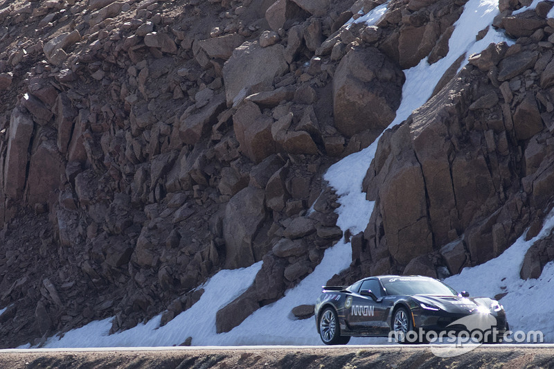 Sam Schmidt drives the Arrow-modified semi-autonomous Corvette up Pikes Peak, CO.