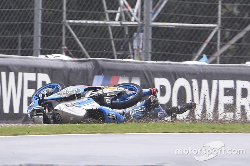 Aron Canet, Estrella Galicia 0,0 crash