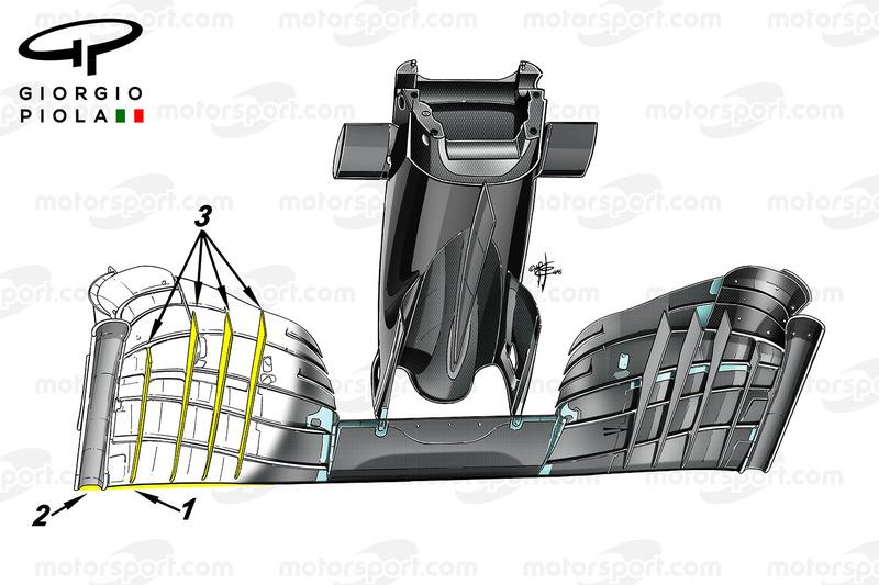 McLaren MP4/31: Winglets am Frontflügel in Mexiko