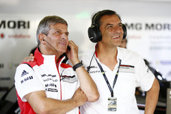 Fritz Enzinger, Vice President LMP1 Porsche Team and Michael Steiner, Board Member Research and Development Porsche AG