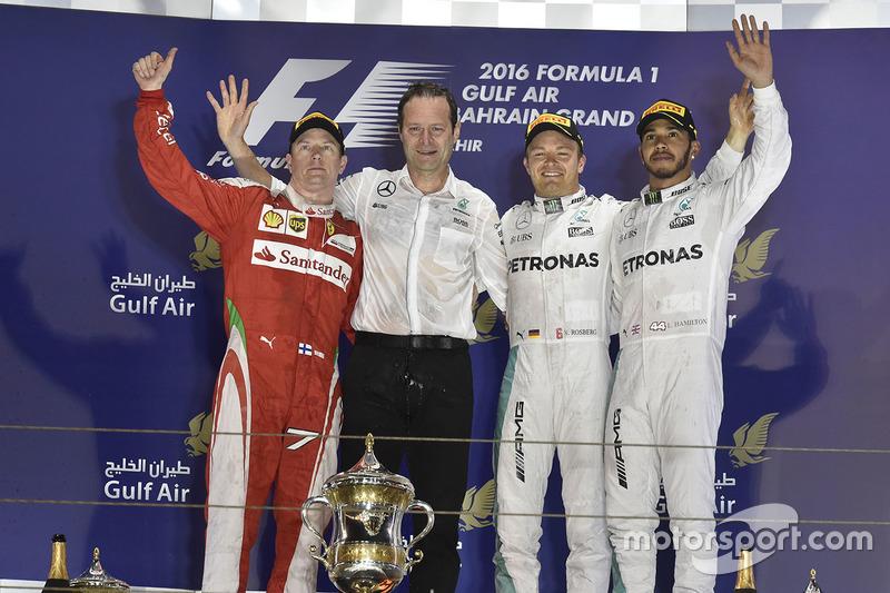 2016 - 1. Nico Rosberg 2. Kimi Räikkönen 3. Lewis Hamilton