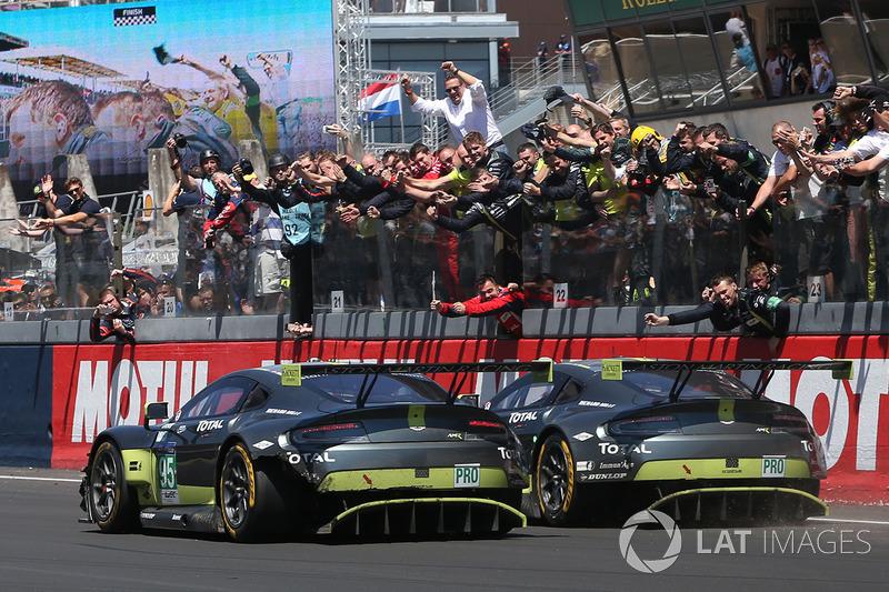 9. #95 Aston Martin Racing Aston Martin Vantage: Nicki Thiim, Marco Sorensen, Richie Stanaway and #97 Aston Martin Racing Aston Martin Vantage: Darren Turner, Jonny Adam, Daniel Serra