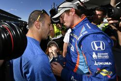 Polesitter Scott Dixon, Chip Ganassi Racing Honda, Tony Kanaan, Chip Ganassi Racing Honda