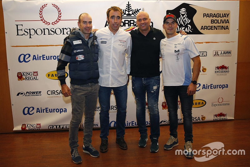 Nani Roma, Toyoya Gazoo Racing, Xevi Pons, Ford South Racing y Cristian España, Team Pedrega KTM