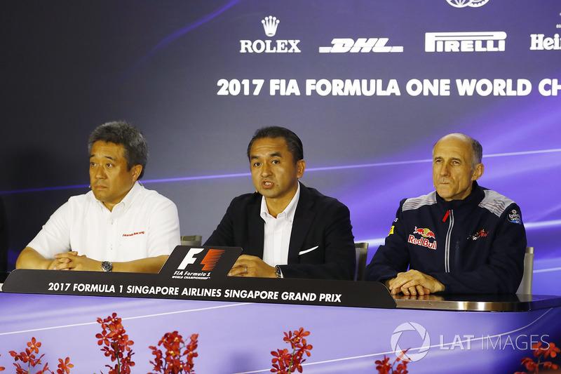 Katsuhide Moriyama Honda, Honda de Masashi Yamamoto, Franz Tost, director del equipo, Scuderia Toro Rosso