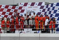 Podium GT winners: #31 Team Audi Korea Audi R8 LMS GT3: Kyong Ouk You, Marchy Lee, Alex Yoong, second place #3 DH Racing Ferrari 488 GT3: Rino Mastronardi, Alex Riberas, Olivier Beretta, third place #37 Team BBT Ferrari 488 GT3: Anthony Liu, Davide Rizzo, Alessandro Pier Guidi