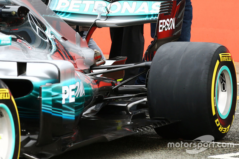 Mercedes AMG F1 W08 detail achterkant
