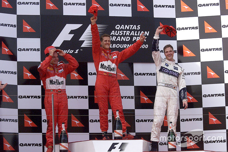 2000 - 1. Michael Schumacher 2. Rubens Barrichello 3. Ralf Schumacher