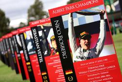 Le panneau de Nico Rosberg dans le paddock
