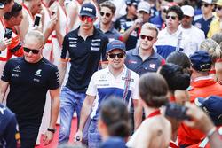 Valtteri Bottas, Mercedes AMG F1, Felipe Massa, Williams, nella drivers parade