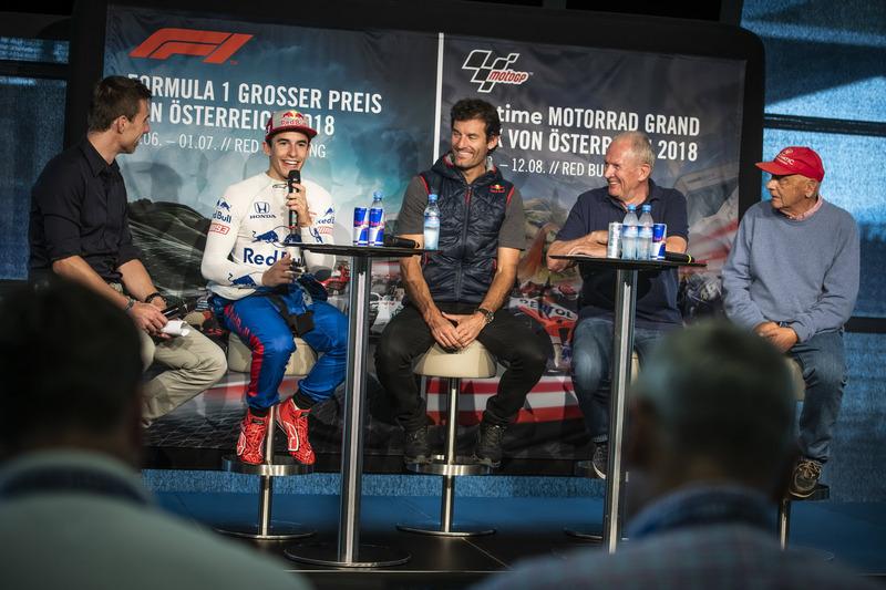 Marc Marquez, Mark Webber, Dr. Helmut Marko e Niki Lauda