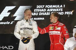Podium: Race winner Valtteri Bottas, Mercedes AMG F1, third place Sebastian Vettel, Ferrari