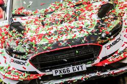 The car winners Elfyn Evans, Daniel Barritt, Ford Fiesta WRC, M-Sport