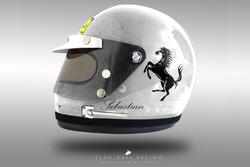 Sebastian Vettel 1970's helmet concept