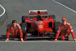 Eddie Irvine y Michael Schumacher, Ferrari