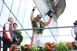 LMGTE Pro podium: winner Laurens Vanthoor, Porsche GT Team