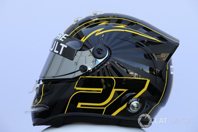 Le casque de Nico Hulkenberg, Renault Sport F1 Team