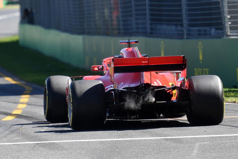 Sebastian Vettel, Ferrari SF71H humea