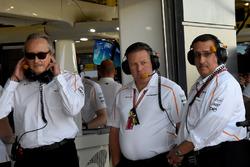 Mansour Ojjeh, McLaren, Zak Brown, McLaren Racing CEO and Sheikh Mohammed bin Essa Al Khalifa, CEO of the Bahrain Economic Development Board and McLaren Shareholder