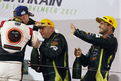 Podium LMGTE AM: first place Paul Dalla Lana, Pedro Lamy