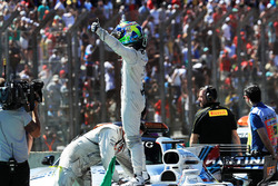 Felipe Massa, Williams celebrates the finish of his last race in parc ferme