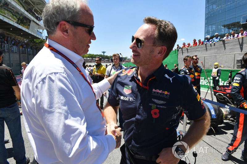 Jerome Stoll, Director de Renault Sport F1 y Christian Horner, director de Red Bull Racing