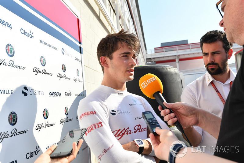 Charles Leclerc medyaya konuşuyor, Sauber