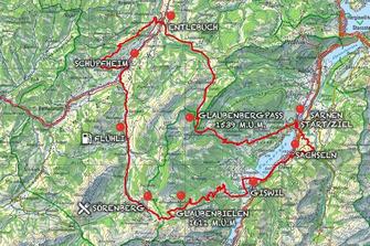 Red Bull Alpenbrevet 2018, route