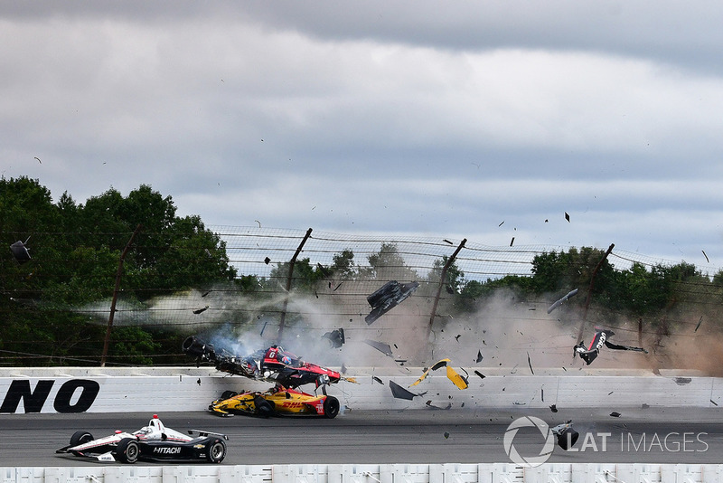 Robert Wickens crash at Pocono