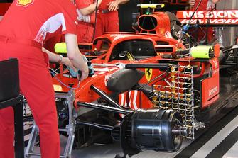 Vue détaillée d'une Ferrari SF71H