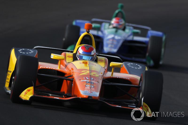 25: Zach Veach, Andretti Autosport Honda, 225.748