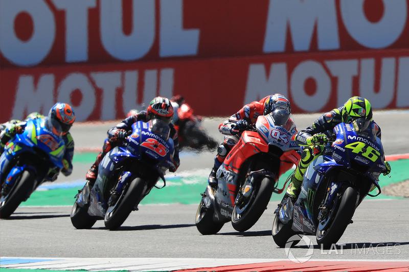 Renn-Action: Valentino Rossi, Yamaha Factory Racing, führt