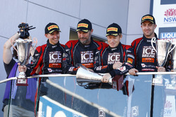 Podium: #12 Competition Motorsports Porsche 991 GT3R: David Calvert-Jones, Patrick Long, Matt Campbe