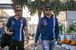 Sergio Perez, Sahara Force India and Xavi Martos, Trainer