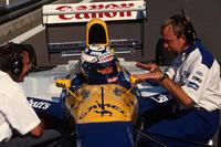 Alain Prost, Williams, con sus ingenieros de carrera
