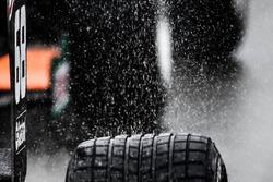 Rain detail on tyre