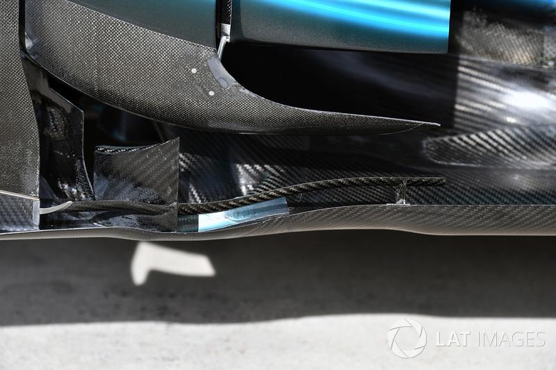 Mercedes-Benz F1 W08, dettaglio aerodinamico