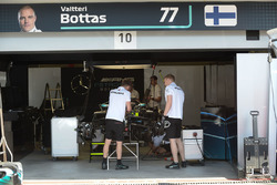 The car of Valtteri Bottas, Mercedes-AMG F1 W09 EQ Power+ in the garage
