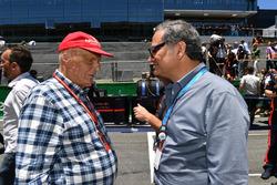 Niki Lauda, Mercedes AMG F1 Non-Executive Chairman and Alejandro Soberon, President and CEO for CIE
