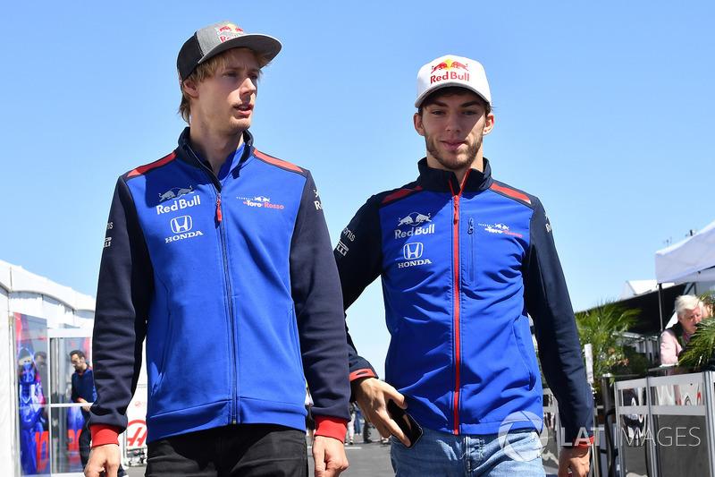 Brendon Hartley, Scuderia Toro Rosso and Pierre Gasly, Scuderia Toro Rosso