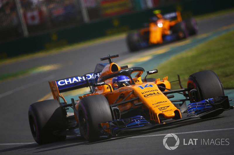 Em 2018, a McLaren trocou o motor Honda pelo Francês Renault e logo na primeira etapa, na Austrália, Alonso conquistou a quinta posição, seu melhor resultado no ano até agora