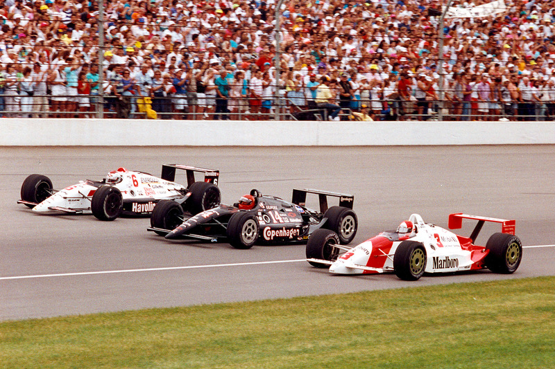 Rick Mears, Mario Andretti, A.J. Foyt – 1991 front row – 9 Indy 500 wins and 14 Indy car championships between them!