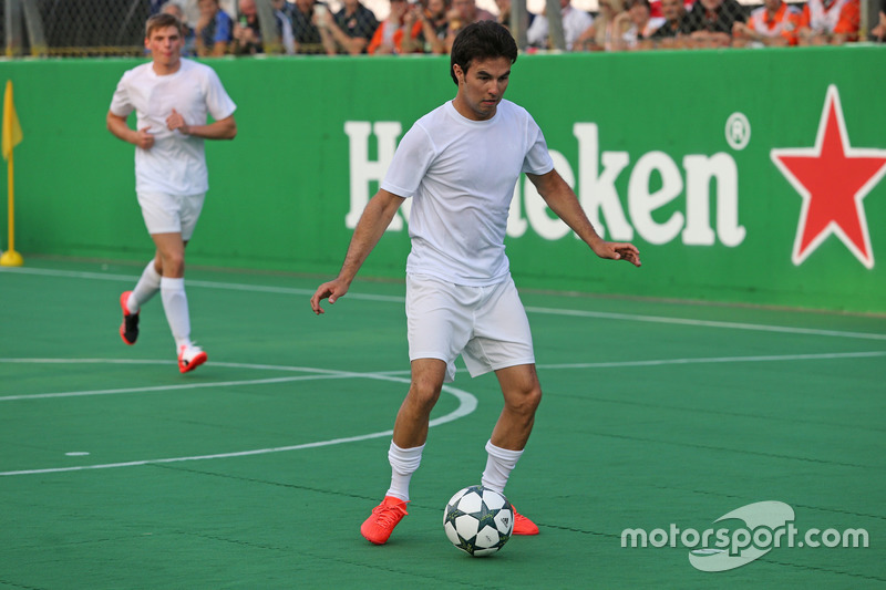 Heineken charity football game, Sergio Perez, Sahara Force India
