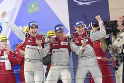 LMP1 Podium: race winners #8 Audi Sport Team Joest Audi R18: Lucas di Grassi, Loic Duval, Oliver Jarvis