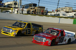 Cody Coughlin, ThorSport Racing Toyota, Austin Wayne Self, AM Racing Toyota