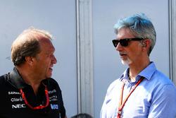 Robert Fernley, Sahara Force India F1 Team Deputy Team Principal with Damon Hill, Sky Sports Presenter